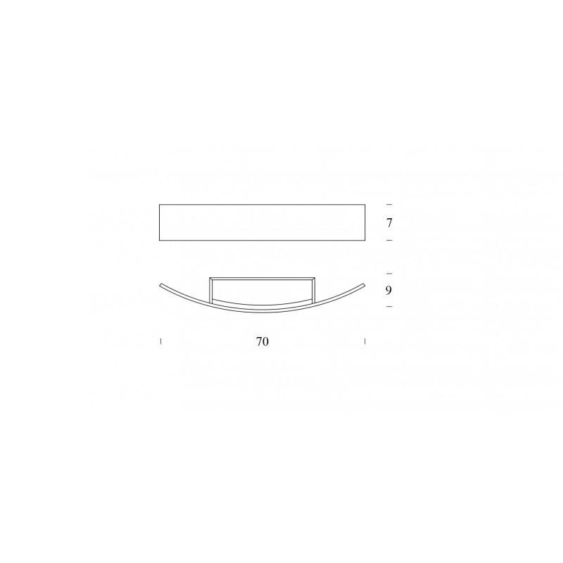 Fontana arte riga 70 led click luce store puntoluce for Fontana arte riga