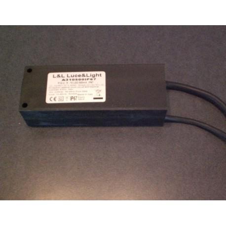 LUCE&LIGHT - A14500IP67 ALIMENTATORE LED 500mA 1-4 LED 2W IP67