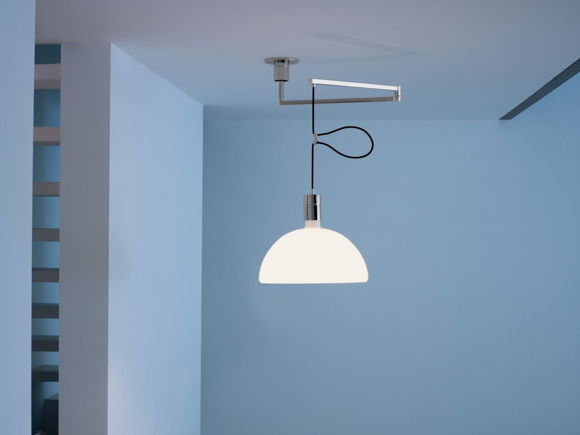 Lampadario Con Punto Luce Decentrato nemo - as41c sospensione decentrata vetro - puntoluce